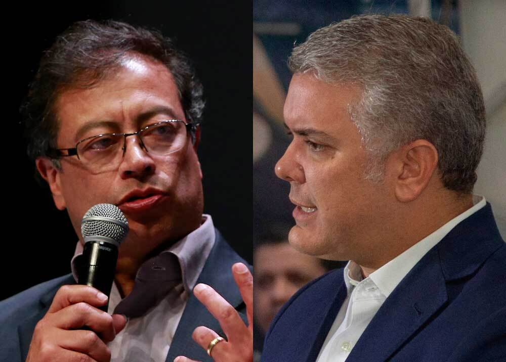 352398_Gustavo Petro e Iván Duque // Fotos: AFP - Presidencia
