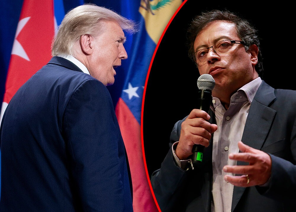 Donald Trump - Gustavo Petro :: Fotos: AFP.jpeg