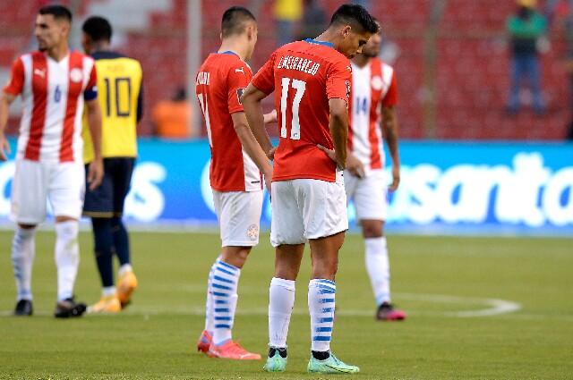 Selección de Paraguay contra Ecuador, en Eliminatorias