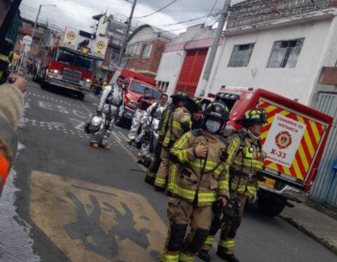 Incendio en taller de mecánica Las Ferias, en Bogotá