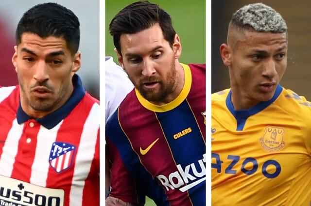 Suarez, Messi y Richarlison