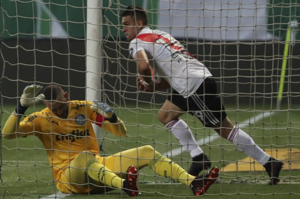 Gol Santos Borre River vs Palmeiras