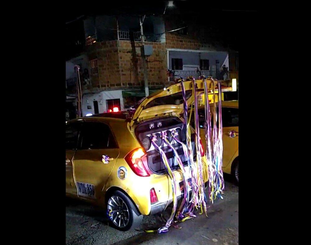 371245_Reunión y caravana de taxistas en Bello, Antioquia. / Foto: captura de video.