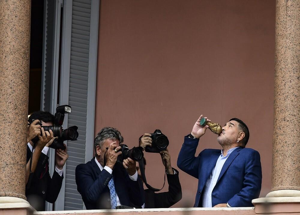 351516_BLU Radio. Diego Maradona en la Casa Rosada / Foto: AFP
