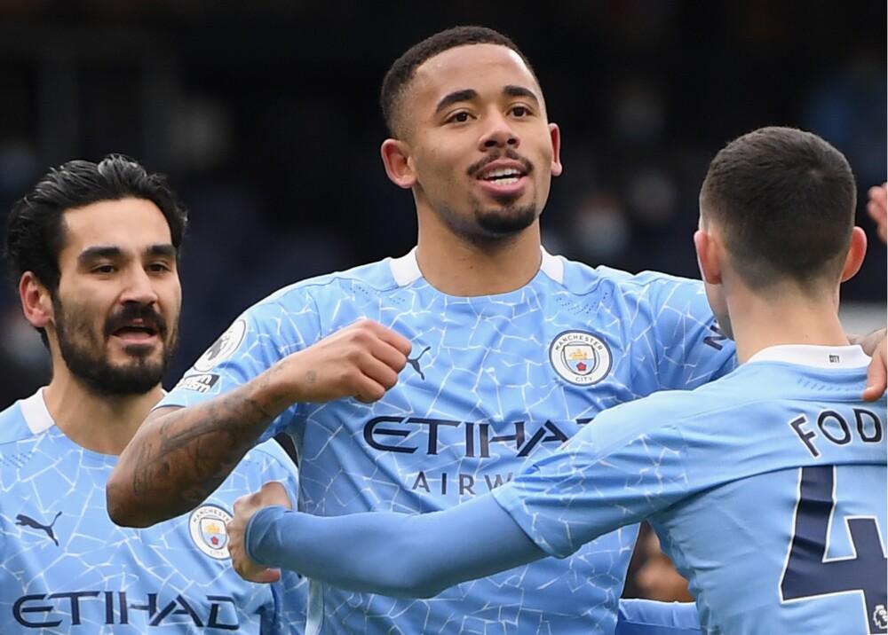Gabriel Jesus con Manchester City AFP
