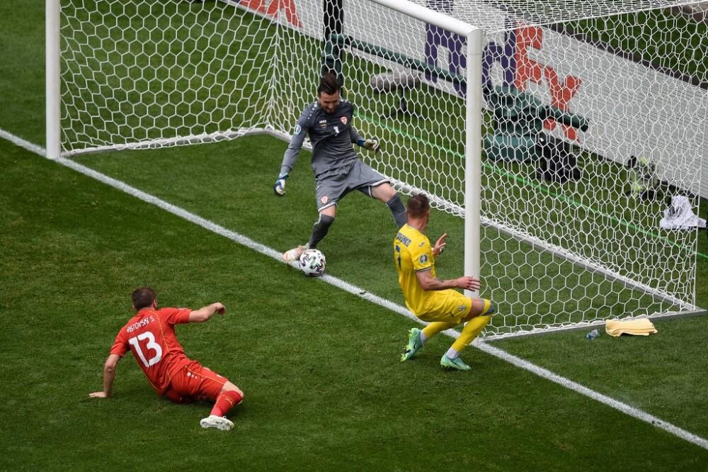 Gol de Ucrania ante Macedonia del Norte