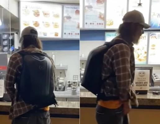 Hombre orinó en la caja de un restaurante porque le pidieron utilizar tapabocas