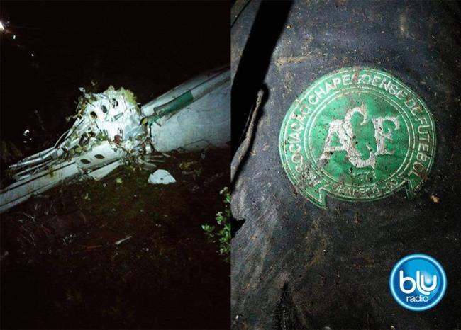 296538_Blu Radio. Accidente Chapecoense / Foto: Defensa Civil