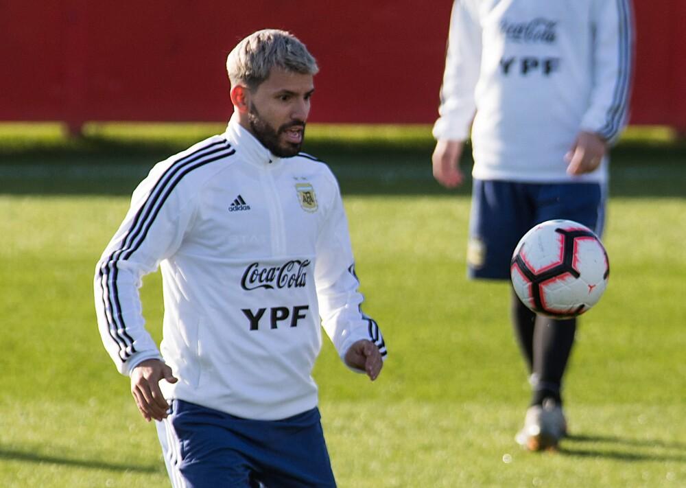 Sergio Kun Agüero, delantero de la selección Argentina. AFP.jpg