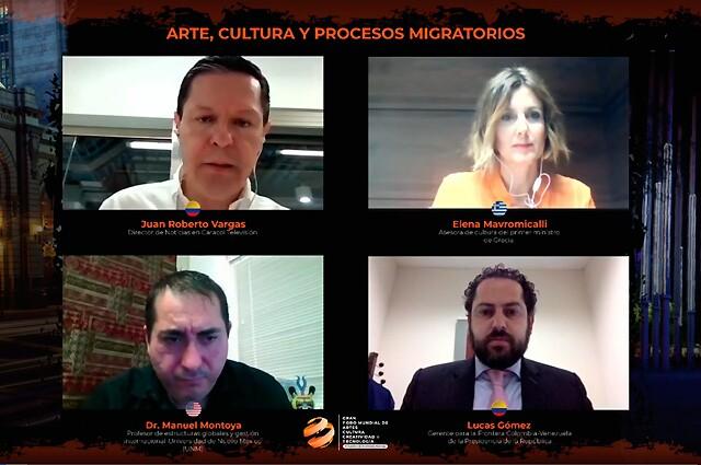 Panel 'Arte, cultura y procesos migratorios', en el marco del Gran Foro Mundial de Artes, Cultura, Creatividad y Tecnología GFACCT2020