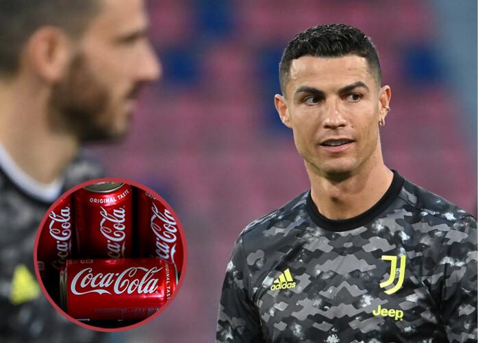 Cristiano Ronaldo rechazó a Coca Cola en rueda de prensa