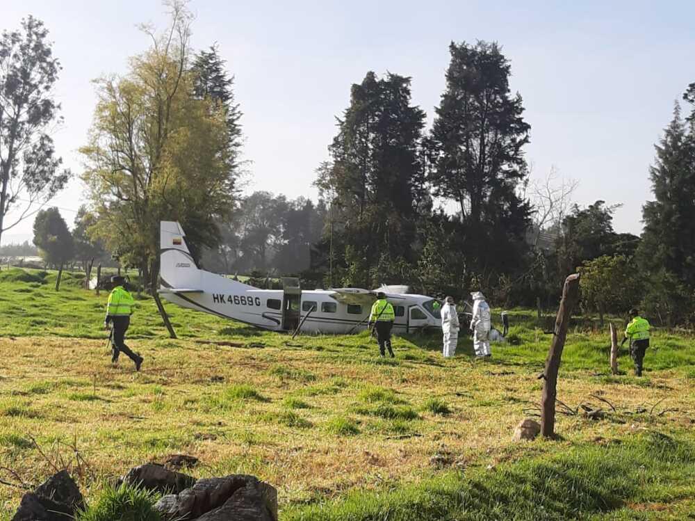 Avioneta caida en Bogotá : Foto suministrada.jpeg
