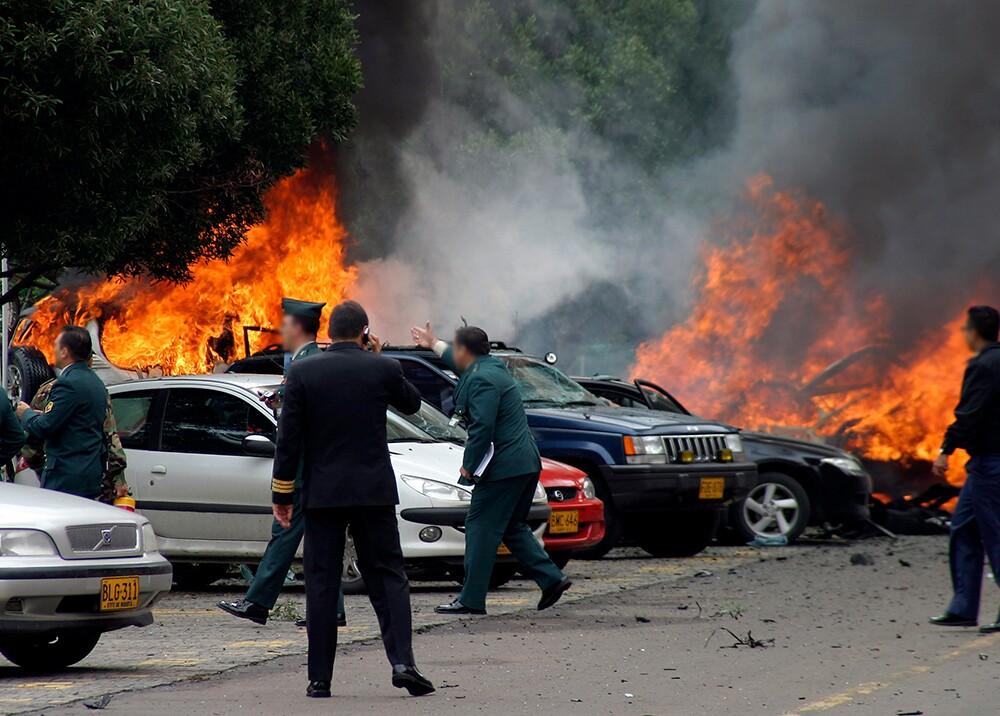 356797_Atentado Escuela Superior de Guerra / Foto: AFP