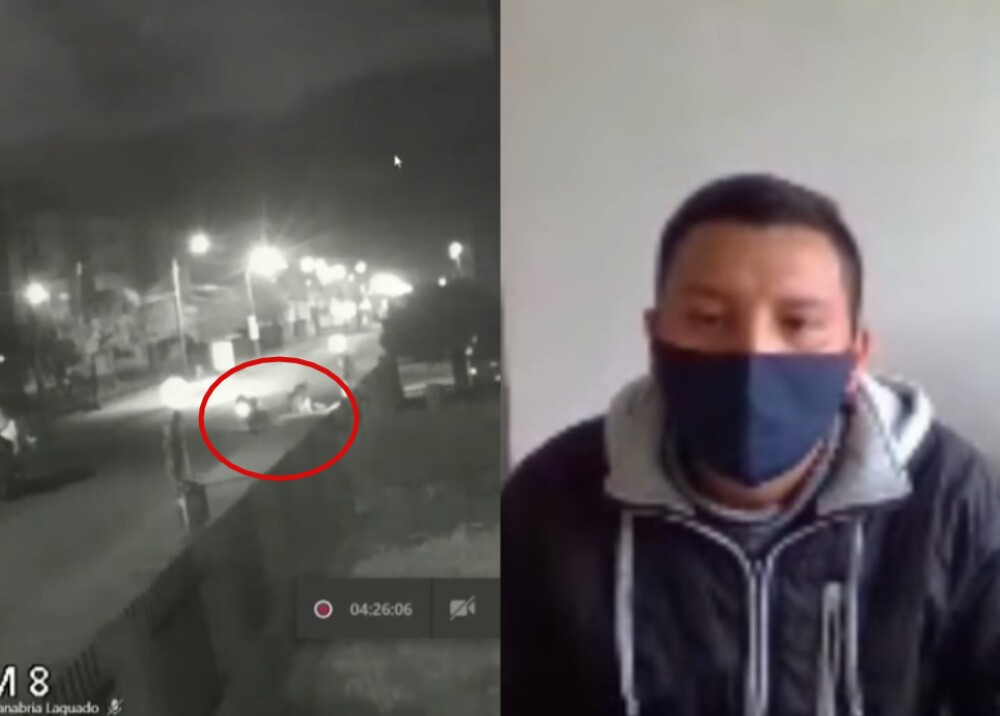 25589_Declaración de patrullero Harby Rodríguez-Foto captura YouTube