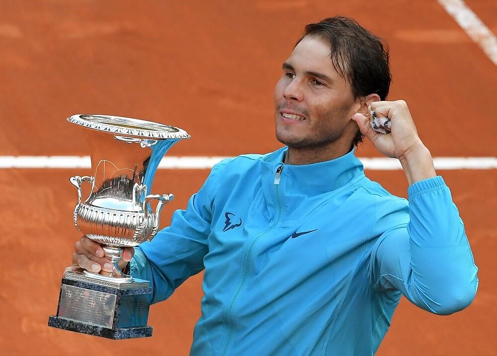 334460_BLU Radio. Rafael Nadal ganó ante Novak Djokovic en el Masters 1000 de Roma // Foto: AFP