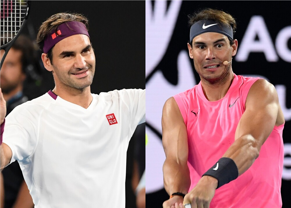 352836_BLU Radio. Roger Federer y Rafael Nadal / Fotos: AFP
