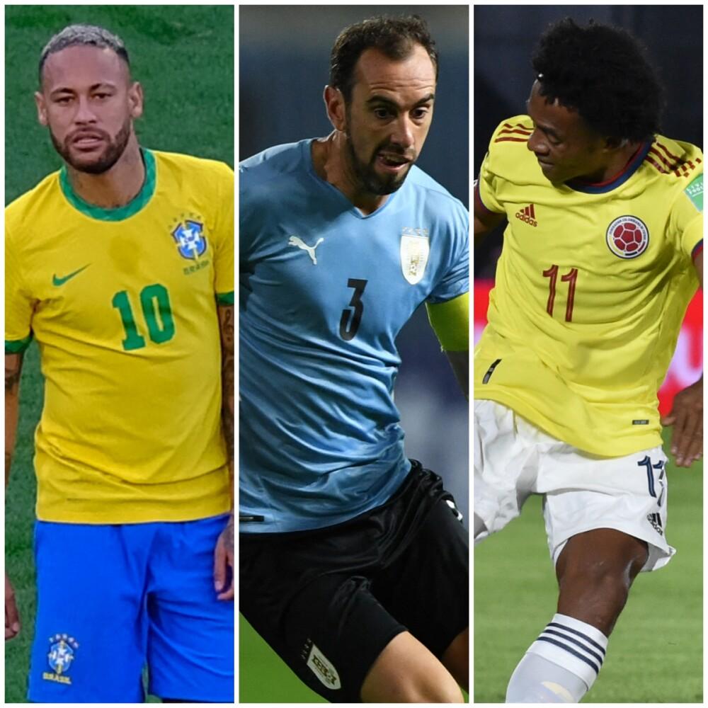 Brasil, Uruguay y Colombia