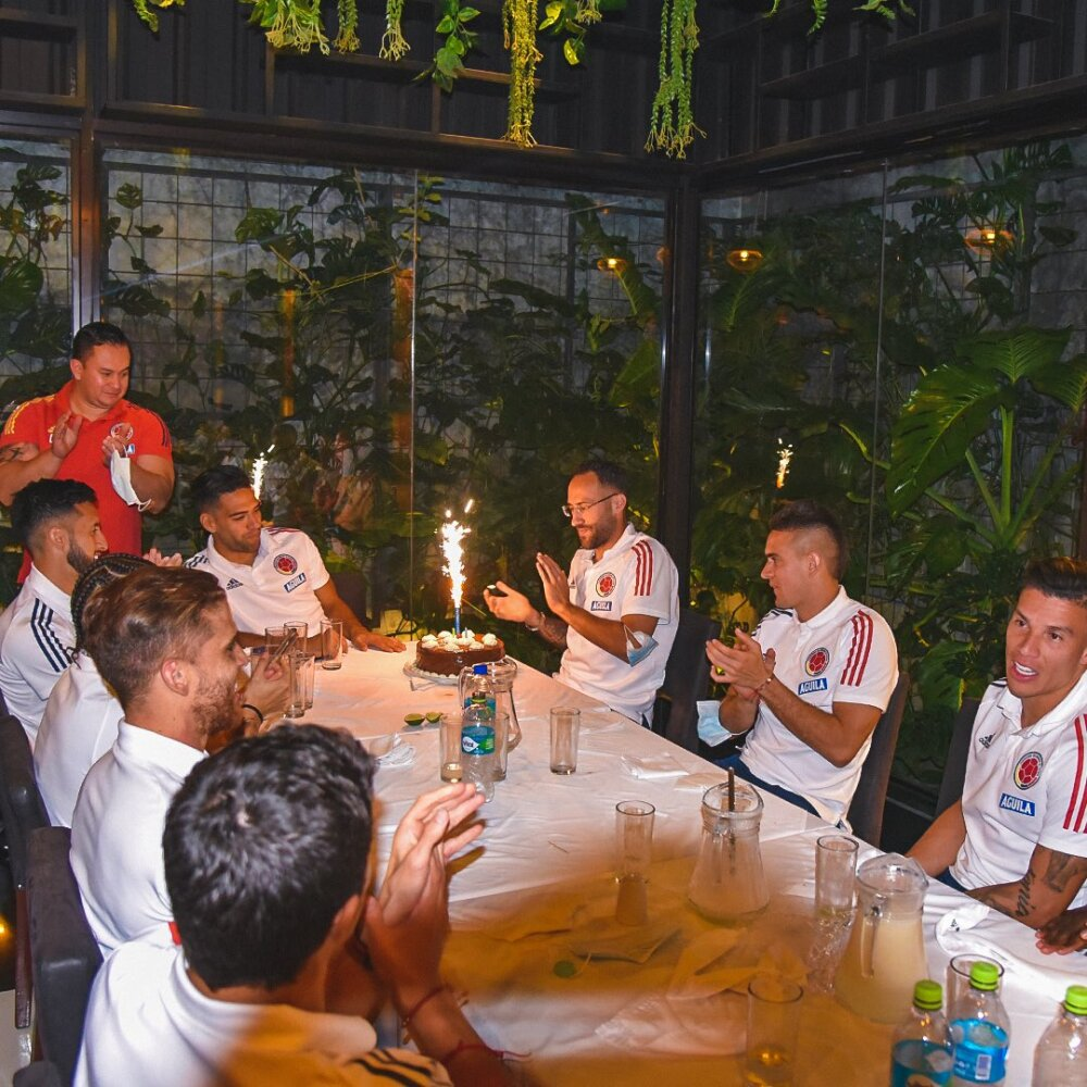 Cumpleaños 33 de David Ospina, portero de la Selección Colombia y Nápoles de Italia. FCF.jpg