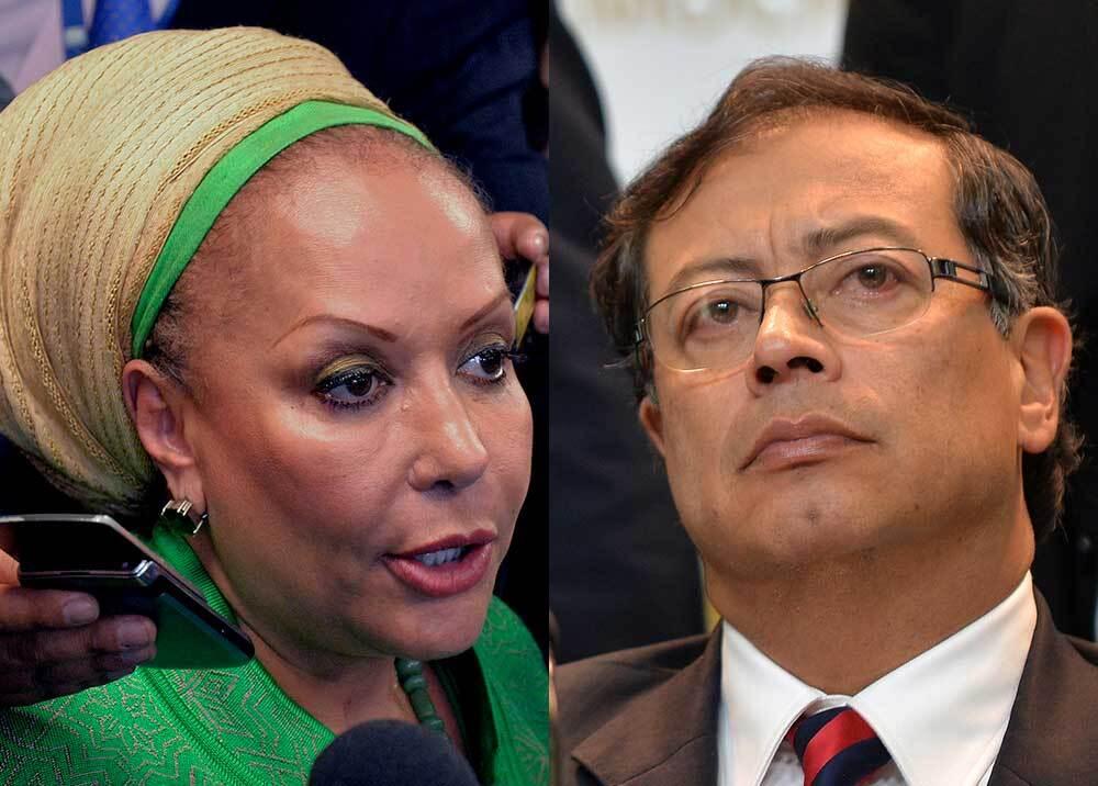332433_BLU Radio // Piedad Córdoba y Gustavo Petro // Fotos: AFP