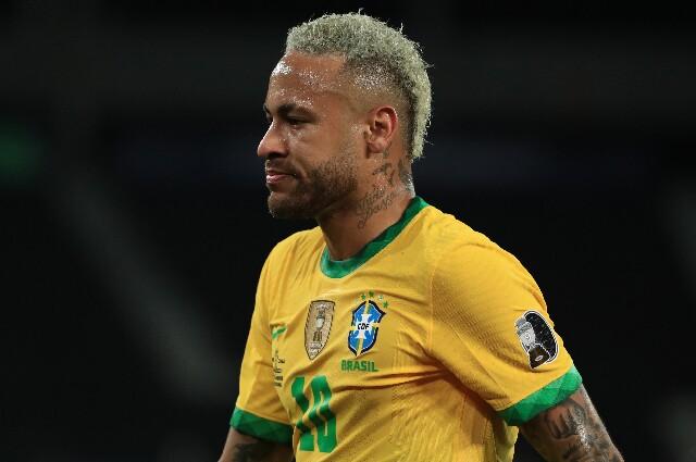 Neymar, con Brasil, en la Copa América