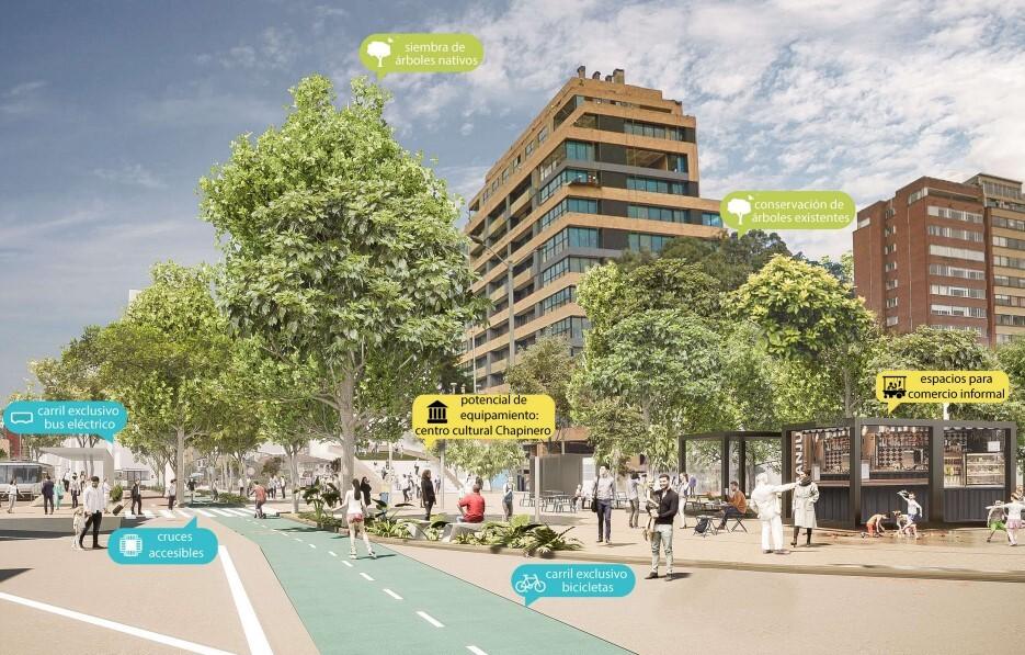 Diseño de tramos de TransMilenio por la Séptima
