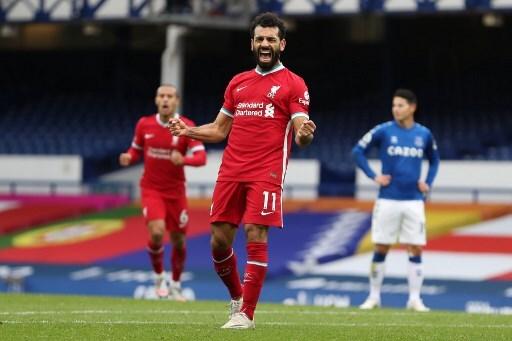 Mohamed Salah gol EVERTON-LIVERPOOL