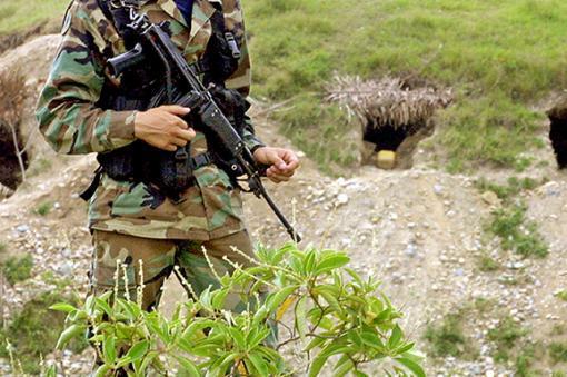 Soldado del Ejército colombiano