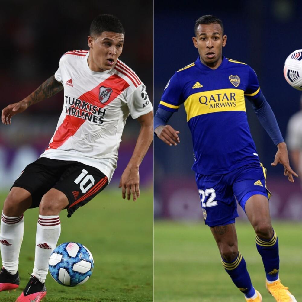 Juan Fernando Quintero y Sebastián Villa, jugadores colombianos. Getty Images.jpg