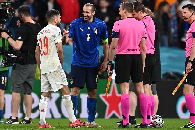 Chiellini y Jordi Alba, en Italia contra España