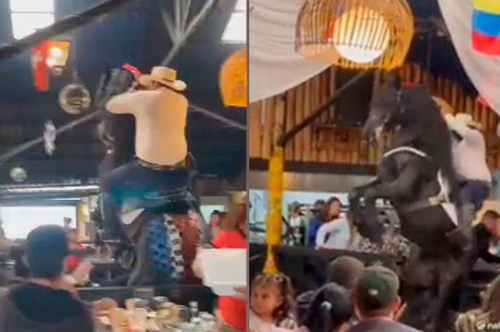Caballo se salió de control en Las Margaritas