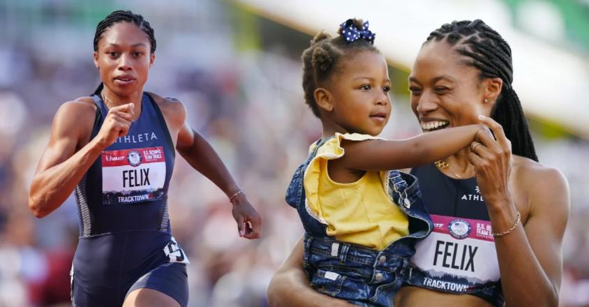 Atleta madre que ganó medalla olímpica