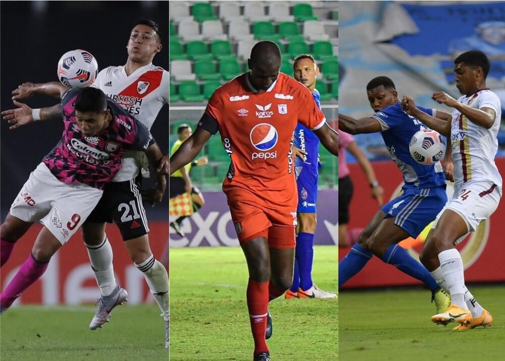 Libertadores y Sudamericana, Santa Fe, América y Tolima. Fotos AFP y Twitter América de Cali.jpg