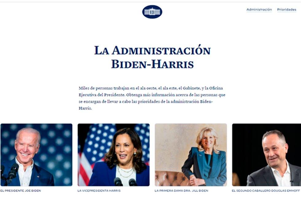 El sitio web de la Casa Blanca, de nuevo en español