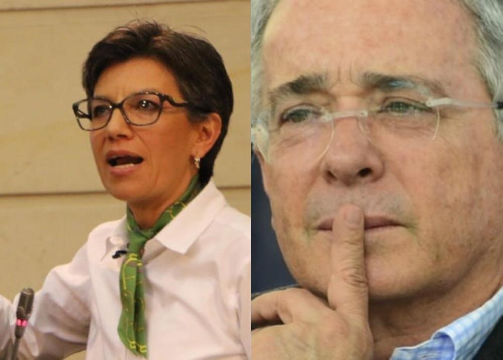 311330_BLU Radio.Claudia Lopez-Alvaro Uribe/Foto: AFP-twitter