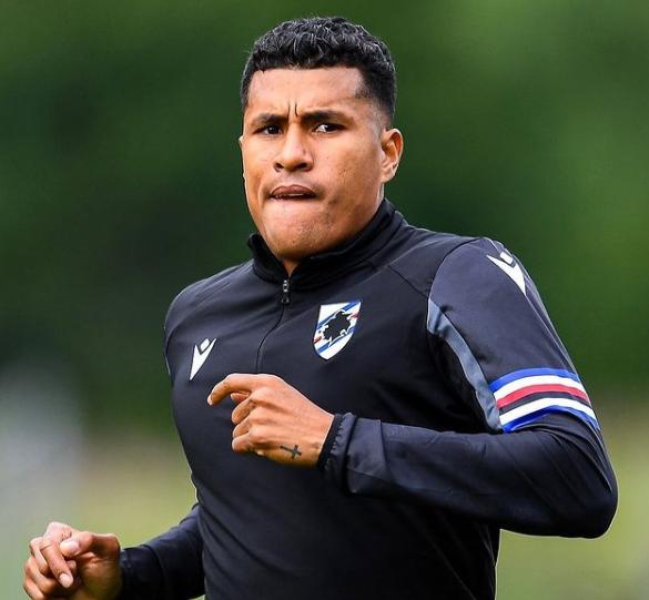 Jeison Murillo, defensor de la Sampdoria. @jeisonmurillo01.PNG