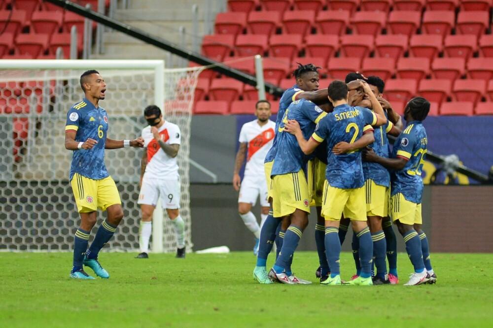 Selección Colombia celebra