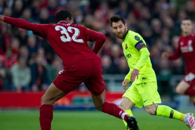 333491_Lionel Messi en acción de juego con el Barcelona frente a Liverpool.