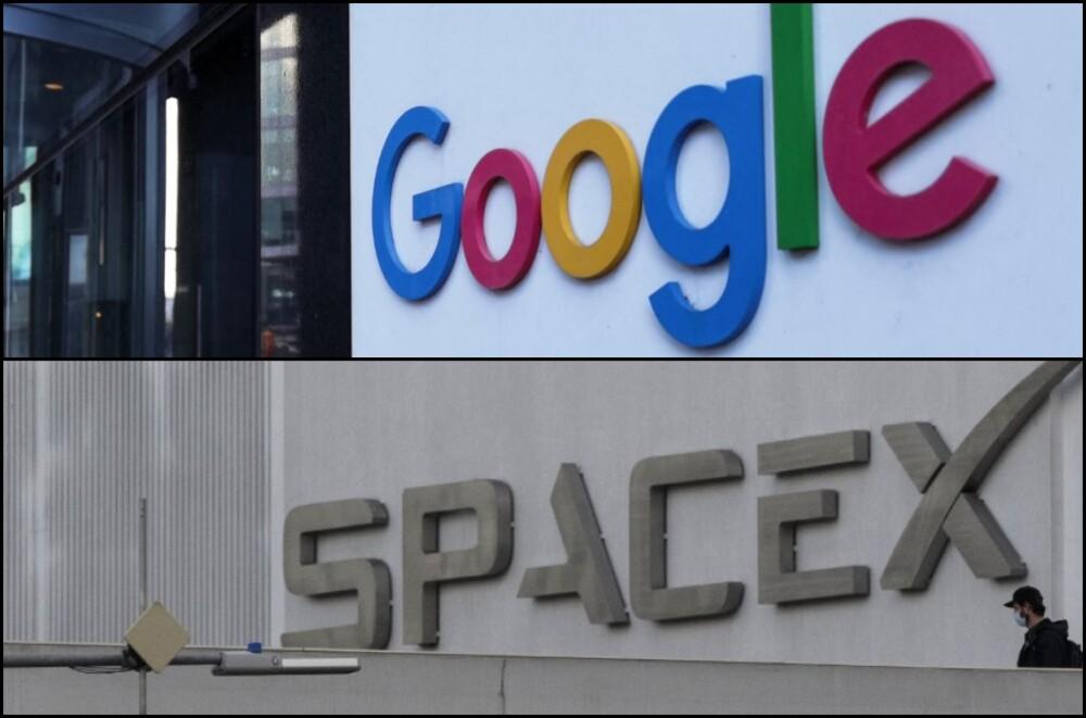 Logos de Google y SpaceX.