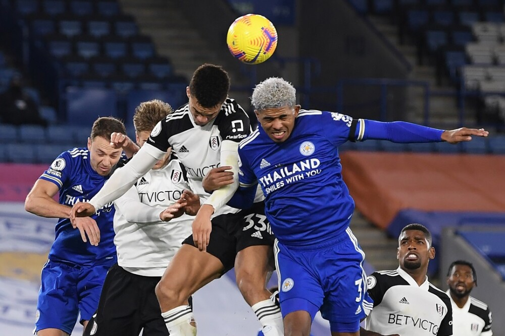 Fulham - Leicester. Foto: AFP