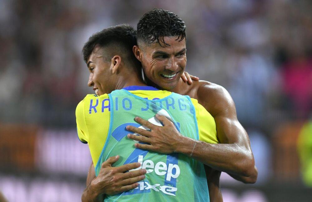 Cristiano Ronaldo y Kaio Jorge