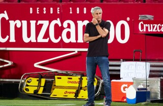Quique Setién, actual entrenador de Barcelona