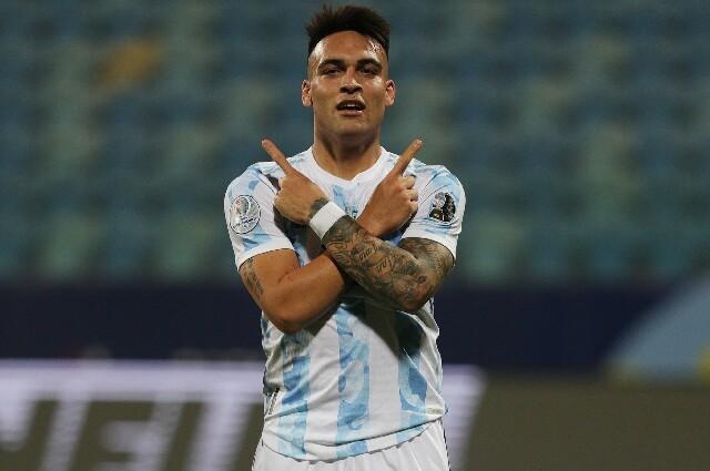 Lautaro Martínez, en Argentina contra Ecuador