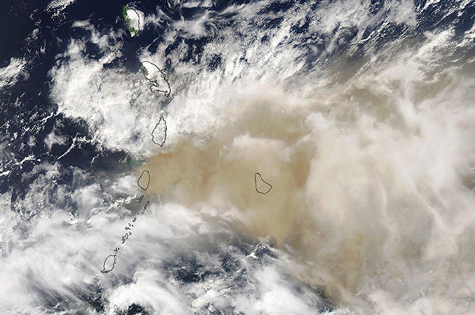 Erupción del volcán La Soufriere