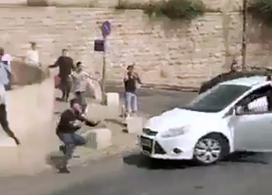 Arrollamiento de manifestantes en Jerusalén