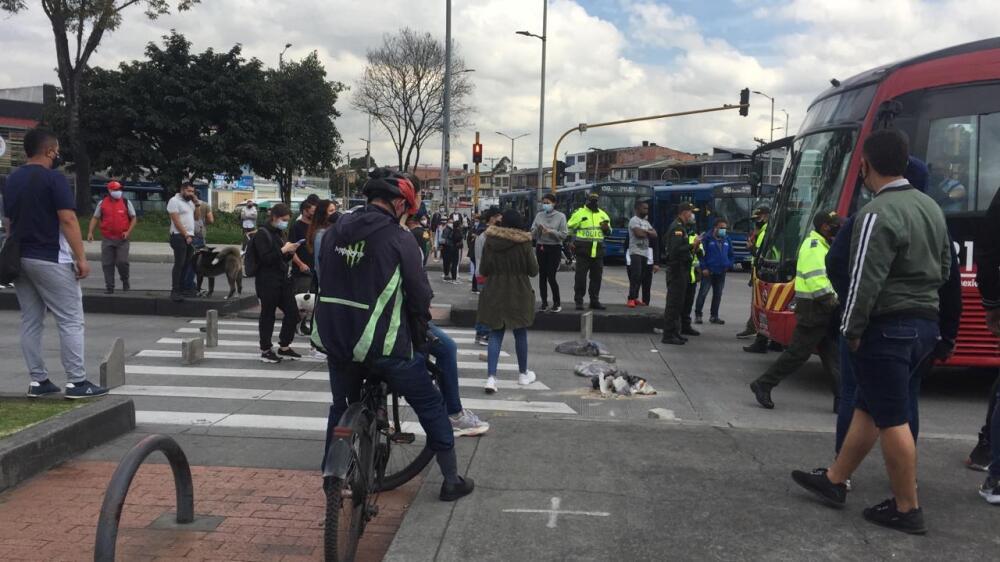 Protesta comerciantes Bogotá