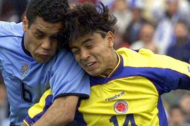 334687_Iván López, en partido de la Selección Colombia contra Uruguay por Eliminatorias.