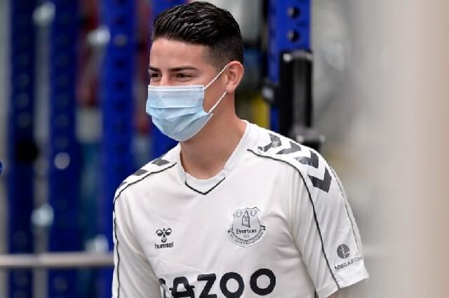 James Rodríguez, en el Everton
