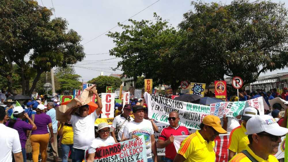 Blu Radio/ Marcha por el Día del Trabajo en Barranquilla. Foto: BLU Radio