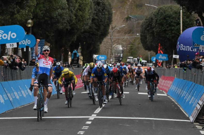 Sergio Higuita fue cuarto en la etapa 3 de Tirreno-Adriático.
