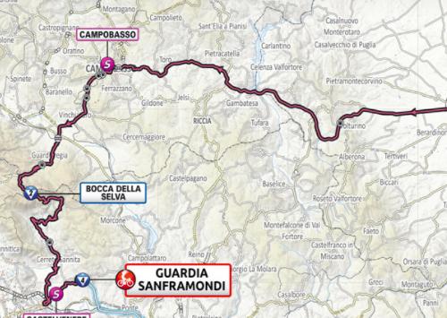 Así será la etapa 8 del Giro de Italia 2021.